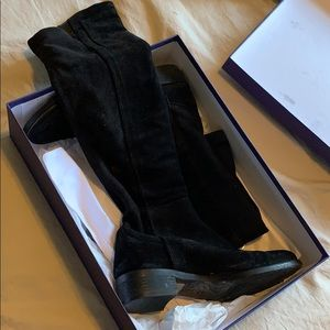 Browns Couture knee high suede boots